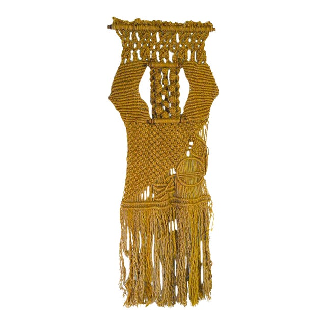 Gold Boho Chic Macrame Wall Hanging - Image 1 of 4