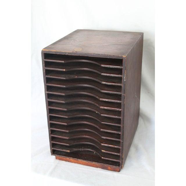 Vintage wooden paper sorter desk organizer chairish - Desk organizer sorter ...