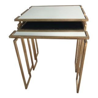 Neiman Marcus Stella Mirrored Nesting Tables - A Pair