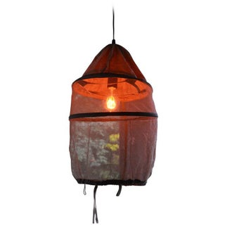 French Beekeeper's Hat Pendant Light