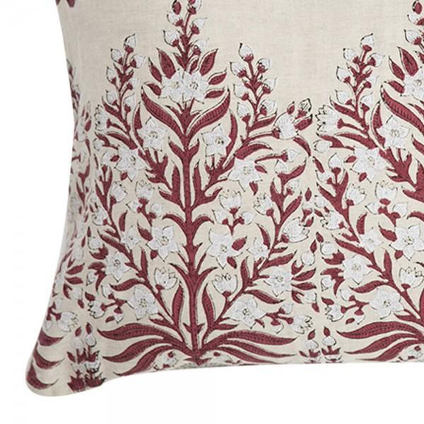 Block Print Linen Pillow - Image 2 of 3