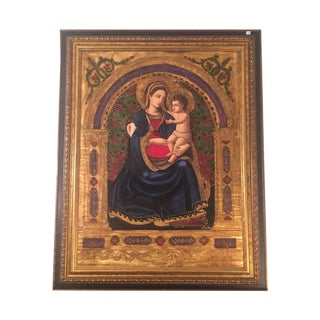 Painting of Madonna and Christ Child by Aguilar