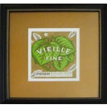 Image of Framed French Vintage Wine Label