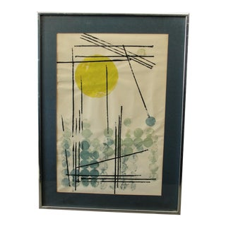 Vintage Abstract Expressionist Monoprint