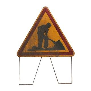 French Roadwork in Progress Sign