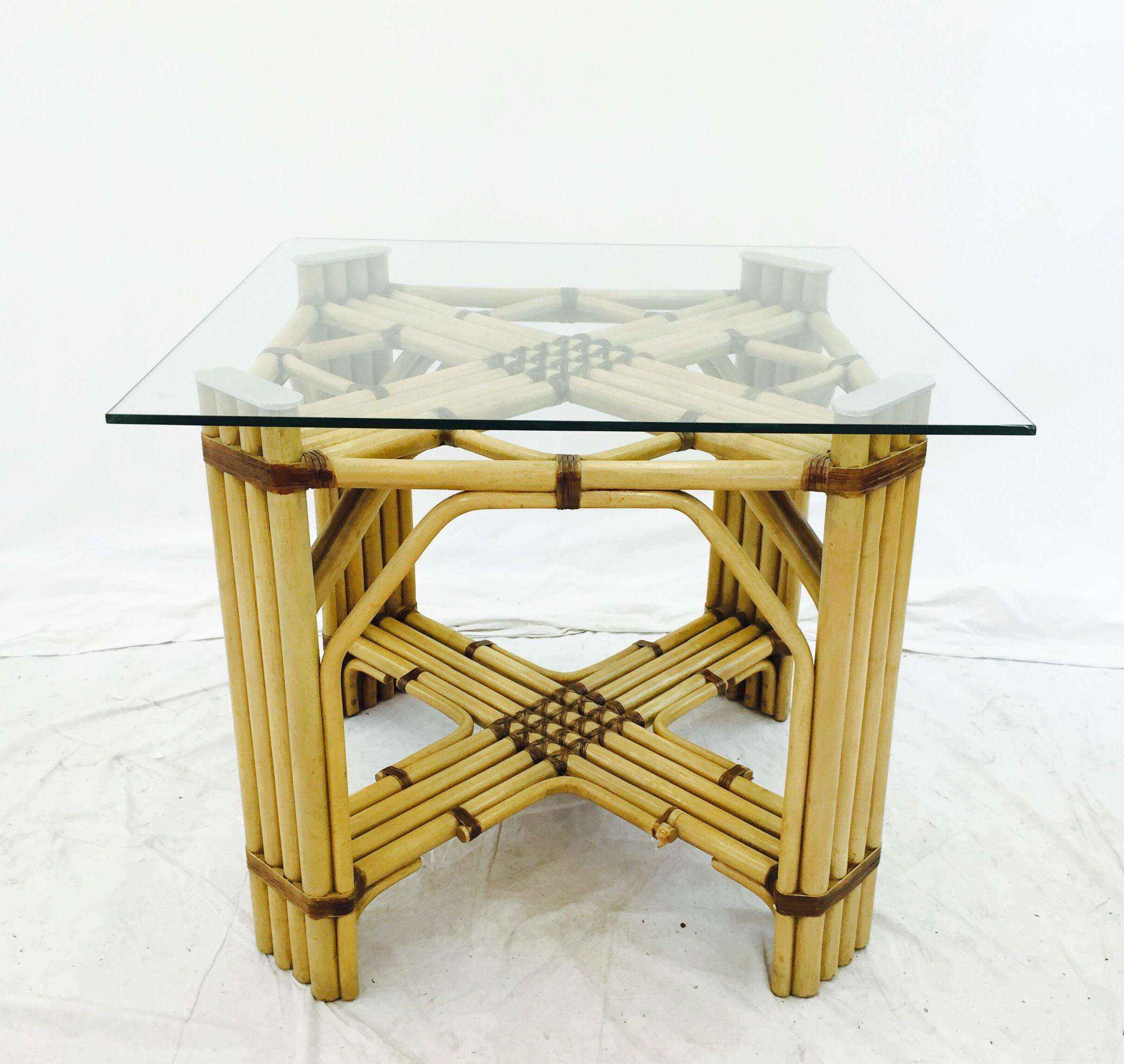 Mid Century Rattan amp Glass Top Dining Table Chairish : 13defe20 0595 49e2 ae63 38a0a04fe212aspectfitampwidth640ampheight640 from www.chairish.com size 640 x 640 jpeg 43kB