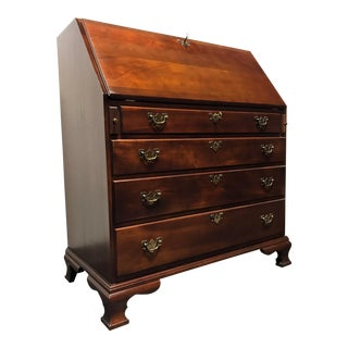 Craftique Solid Mahogany Slant Front Secretary Desk