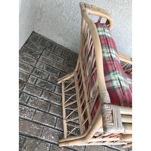 Vintage Wicker & Rattan Chaise - Image 5 of 7