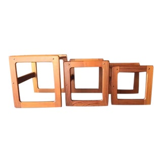 Vintage Teak German Nesting Tables - Set of 3