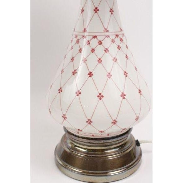 Image of Pink Porcelain Table Lamps - Pair