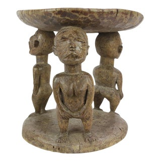 Jelani Tribal Carved Stool
