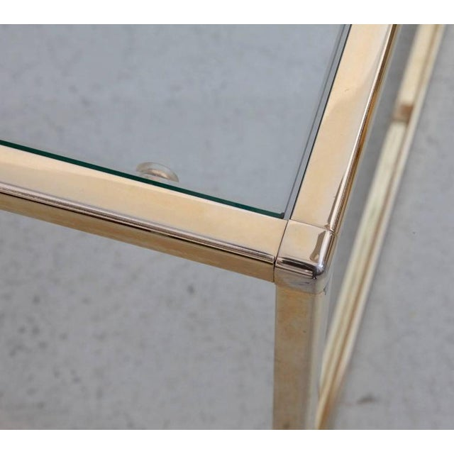 Huge Coffee Table in Brass with Four Nesting Tables by Maison Charles - Image 3 of 6