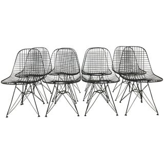 Charles and Ray Eames Dkr5 Eiffel Base Chairs - Four Available