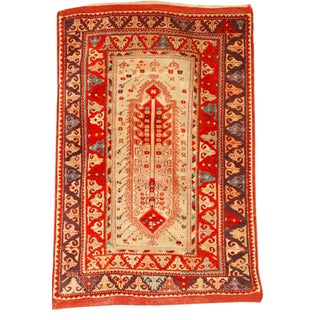 Exceptional Antique 19th Century Turkish Melas Rug