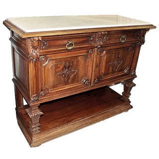French Walnut Buffet Server