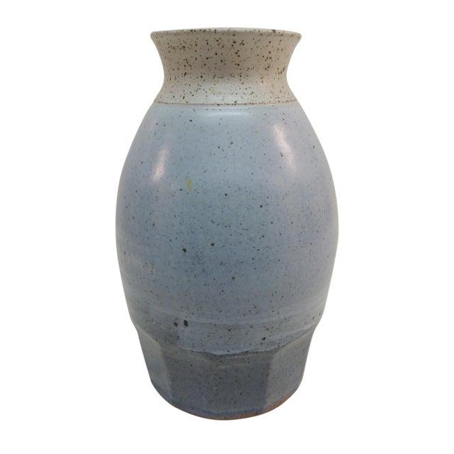 Vintage Mid Century Modern Tall Pottery Vase - Image 1 of 4