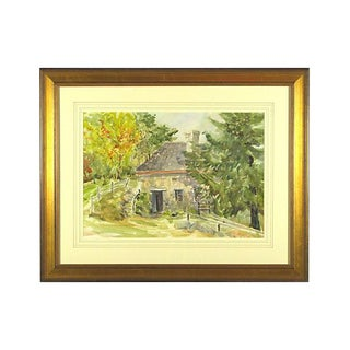 Massachusetts Grist Mill Painting