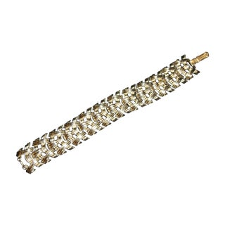 Coro Woven Silvertone Bracelet