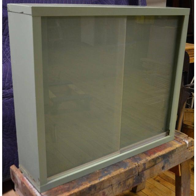 Image of Mid-Century Sliding Glass Door Dental Wall Cabinet