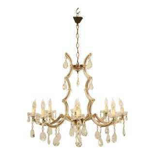 Circa 1930s Baroque Style Spanish Chandelier