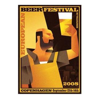 Danish Modern Poster, European Beer Festival