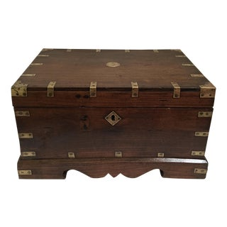 Anglo Indian Wood & Brass Writing Box