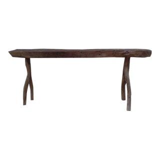 Unique French Modern Craftsman Bench