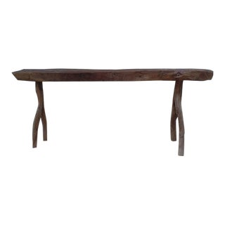 Unique French Modern Craftsman Bench