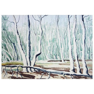 Watercolor - Spring Aspens by Ruth Ann Younglove
