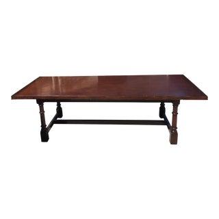 Ralph Lauren Glenbeigh Mahogany Trestle Dining Table