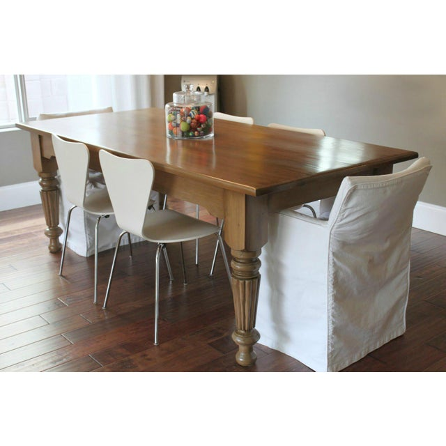 Rustic Farmhouse Dining Table - Image 4 of 9