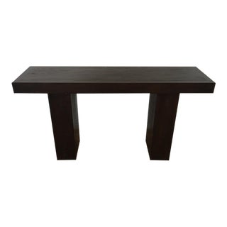 Contemporary Painted Oak Console Table