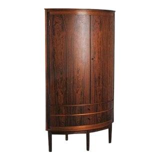 Vintage Danish Rosewood Corner Cabinet