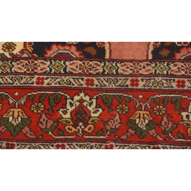 "Persian Faded Pink Senneh Rug - 4'4"" x 6'3"" - Image 3 of 5"