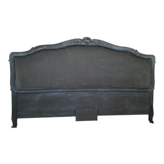 Vintage French Style Cane King Size Headboard