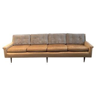 Champagne-Tone Mid-Century Modern Sofa