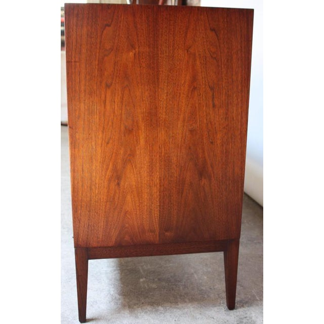 Mid-Century Walnut and Brass Credenza after Paul McCobb - Image 6 of 10