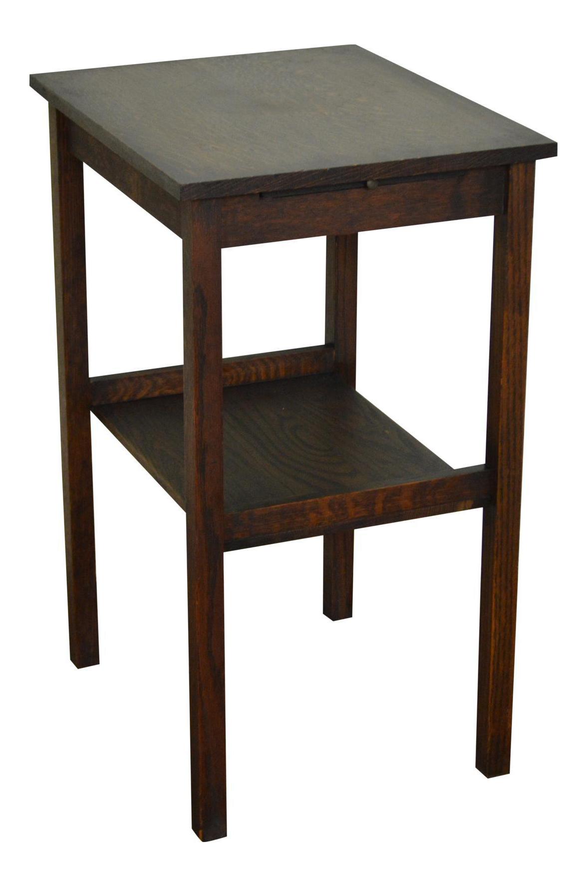 Antique Mission Oak Side Table