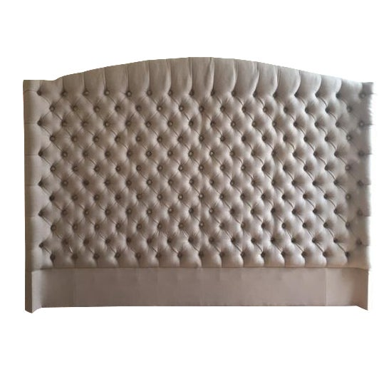 Nickey kehoe winged california king headboard chairish for Nickey kehoe