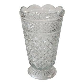 Cut Glass Scalloped Edge Vase