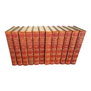1911 Jane Austen Leather Bound Books - Set of 12