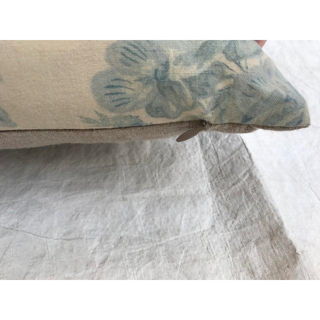 Ralph Lauren Blue & White Rose Patterned Pillow - Image 5 of 8