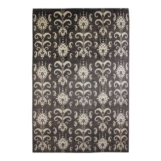 """Aara Rugs Inc. Hand Knotted Ikat Rug - 14'4"""" X 11'6"""""""