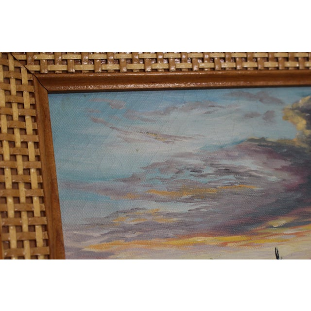 John De Ponce Hawaiian Sunset Landscape Painting - Image 7 of 11