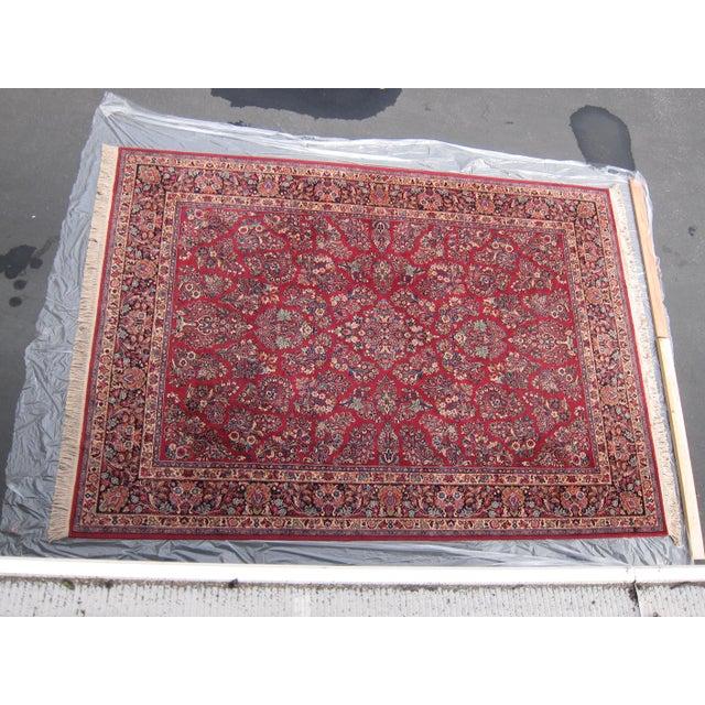Karastan Red Sarouk Pattern - 8′9″ × 12′ - Image 2 of 8