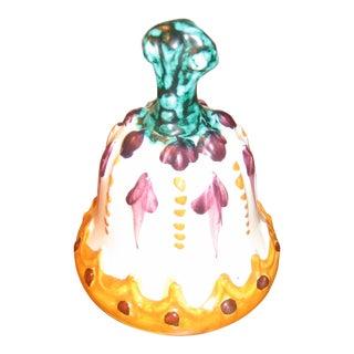 Vintage Italian Ceramic Dinner Bell