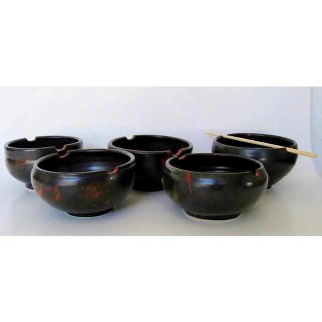 Japanese Ceramic Rice Bowls - Set of 5 - Image 4 of 7