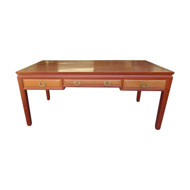 Solid Rosewood Table Desk - Image 1 of 5