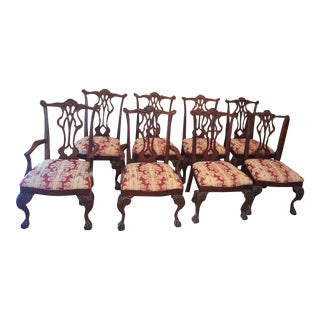 Chippendale Claw and Ball Dining Chairs - Set of 8