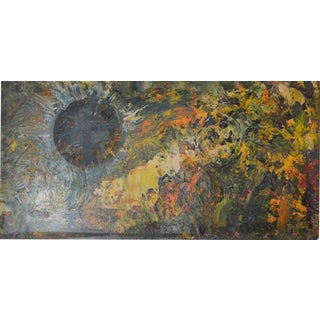 Copper Sheeted Expressionist Painting